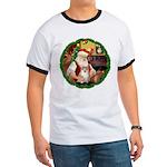 Santa's Pomeranian #1 Ringer T
