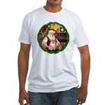 Santa's Pomeranian #1 Fitted T-Shirt
