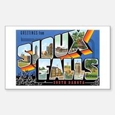 Sioux falls SD Rectangle Decal