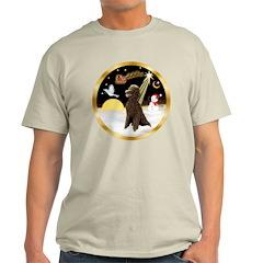Night Flight/Poodle Std(choc) T-Shirt