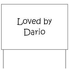 Cute Dario Yard Sign