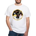 Night Flight/Pug (blk)#13 White T-Shirt