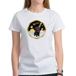 Night Flight/Pug (blk)#13 Women's T-Shirt