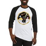 Night Flight/Pug (blk)#13 Baseball Jersey