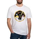 Night Flight/Pug (blk)#13 Fitted T-Shirt