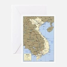 Vietnam Asia Map Greeting Card