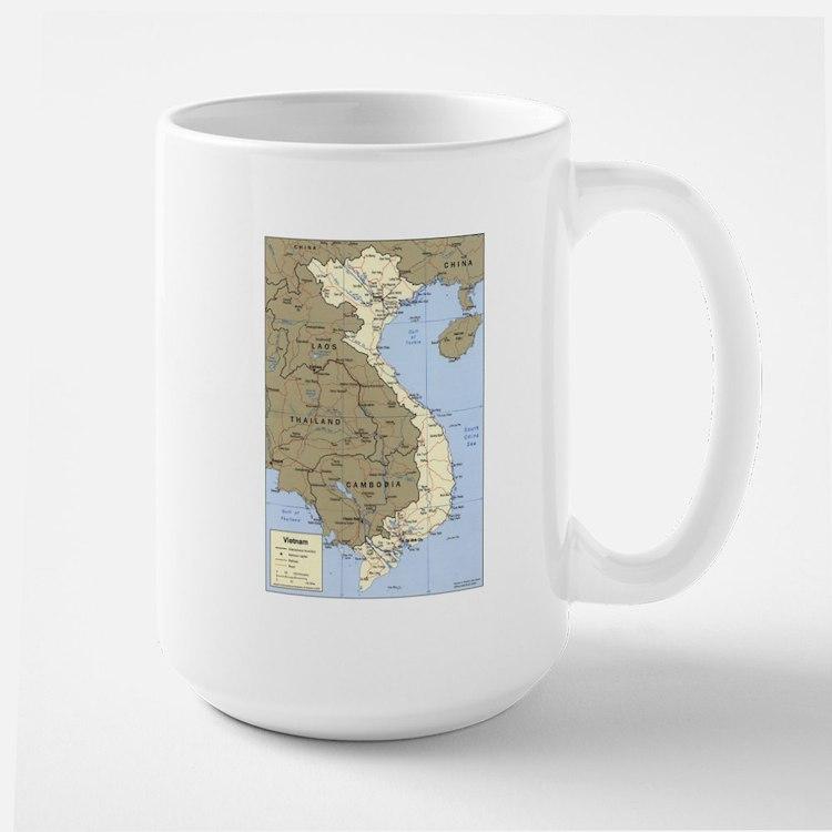 Vietnam Asia Map Mug