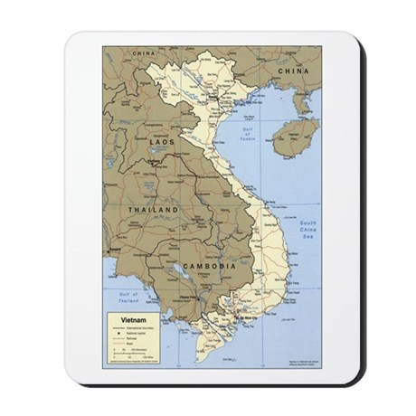 Vietnam Asia Map Mousepad