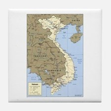 Vietnam Asia Map Tile Coaster