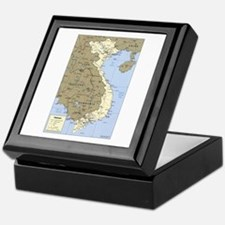 Vietnam Asia Map Keepsake Box