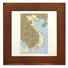 Vietnam Asia Map Framed Tile