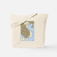 Vietnam Asia Map Tote Bag