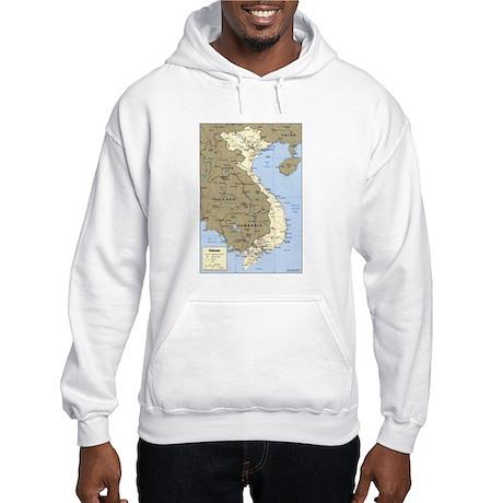 Vietnam Asia Map Hooded Sweatshirt