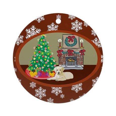 Classic Yellow Lab Ornament (Round)