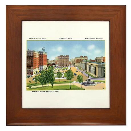 Nashville TN Framed Tile
