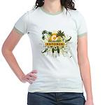 Palm Tree Estonia Jr. Ringer T-Shirt