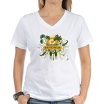 Palm Tree Estonia Women's V-Neck T-Shirt