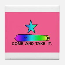 Gay Pride Gonzales Flag Tile Coaster