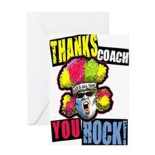 Crazy Thanks Coach! Greeting Card