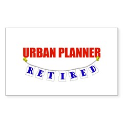 Retired Urban Planner Rectangle Decal