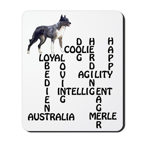 coolie crossword Mousepad