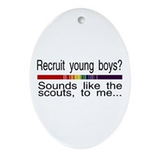 recruit young boys Oval Ornament