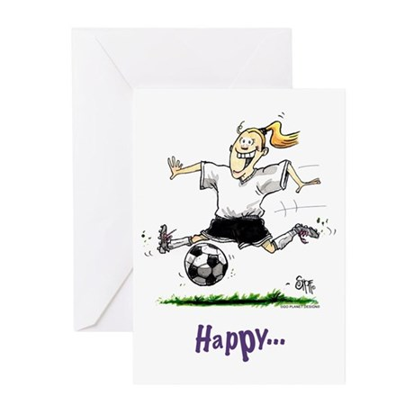 Soccer Girls Birthday (Pack of 6)