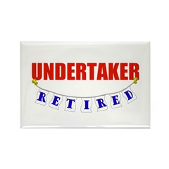 Retired Undetaker Rectangle Magnet (10 pack)