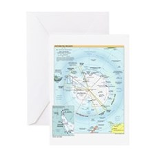 Antarctic Antarctica Map Greeting Card