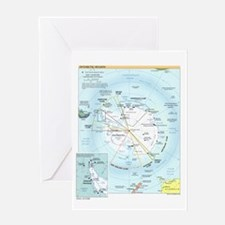 Antarctic Antarctica Map Greeting Card