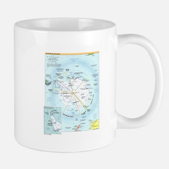 Antarctic Antarctica Map Mug