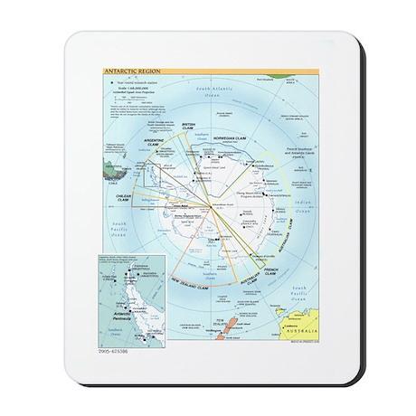 Antarctic Antarctica Map Mousepad