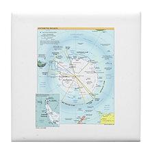 Antarctic Antarctica Map Tile Coaster