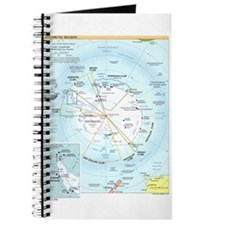 Antarctic Antarctica Map Journal