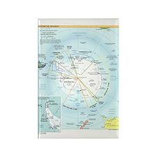 Antarctic Antarctica Map Rectangle Magnet (10 pack