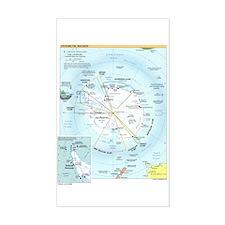 Antarctic Antarctica Map Rectangle Decal