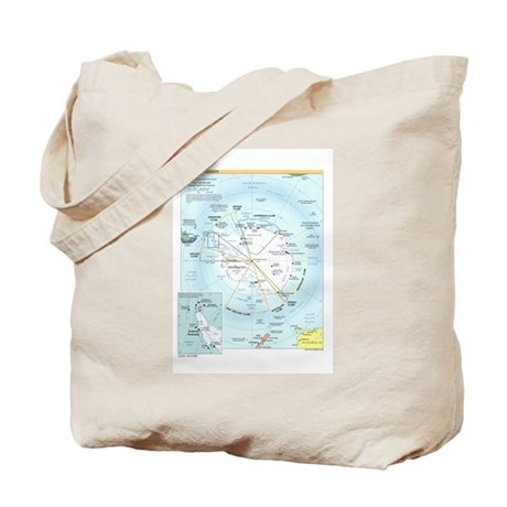 Antarctic Antarctica Map Tote Bag