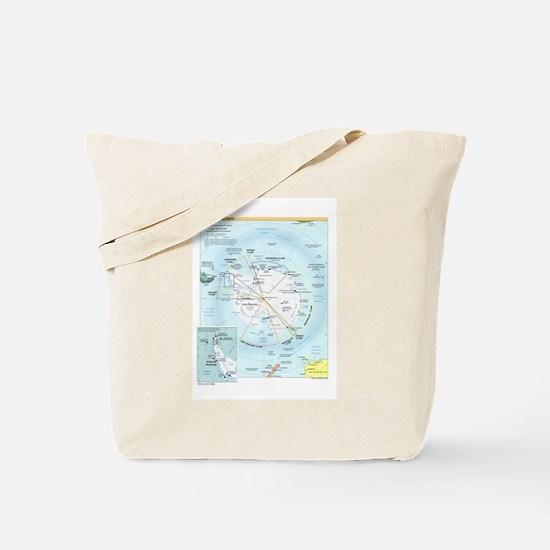 Antarctic Antarctica Map Tote Bag