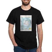 Antarctic Antarctica Map T-Shirt