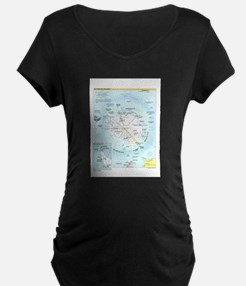 Antarctic Antarctica Map T-Shirt