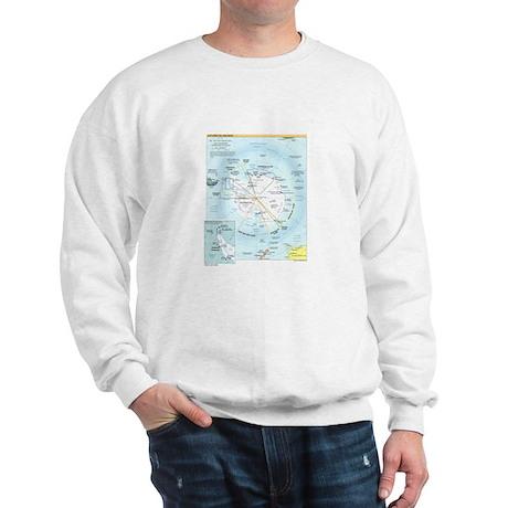 Antarctic Antarctica Map Sweatshirt