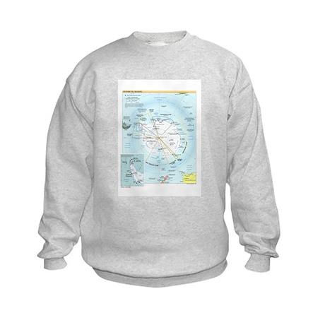 Antarctic Antarctica Map Kids Sweatshirt