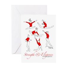 Strength & Elegance Greeting Card