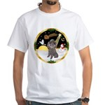 Night Flight/Silver Poodle White T-Shirt