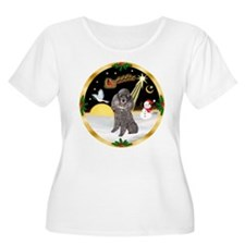 Night Flight/Silver Poodle T-Shirt