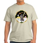 Night Flight/Silver Poodle Light T-Shirt