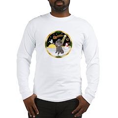 Night Flight/Silver Poodle Long Sleeve T-Shirt