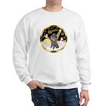 Night Flight/Silver Poodle Sweatshirt