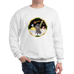 Night Flight/Silver Poodle Sweatshirt