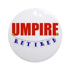 Retired Umpire Ornament (Round)